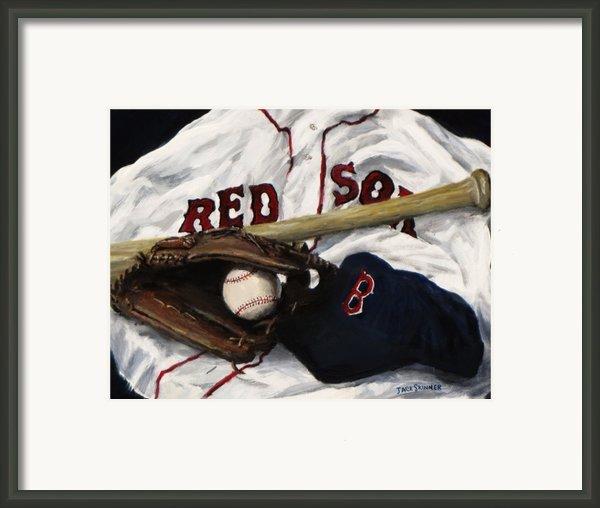 Red Sox Number Nine Framed Print By Jack Skinner