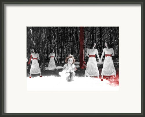 Red Stains - Self Portrait Framed Print By Jaeda Dewalt