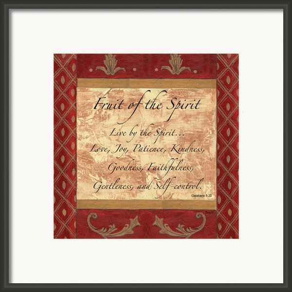 Red Traditional Fruit Of The Spirit Framed Print By Debbie Dewitt