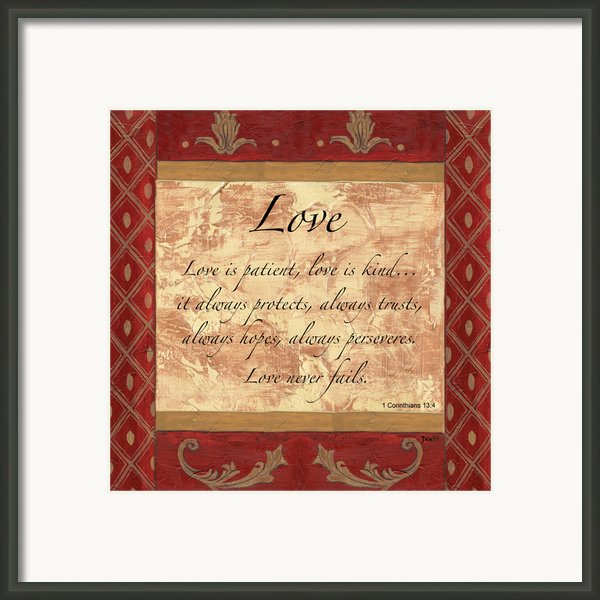 Red Traditional Love Framed Print By Debbie Dewitt