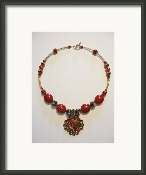 Red Treasure Framed Print By Jenna Green