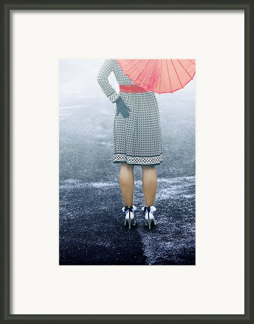 Red Umbrella Framed Print By Joana Kruse