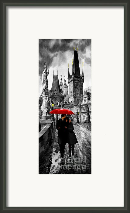 Red Umbrella Framed Print By Yuriy  Shevchuk