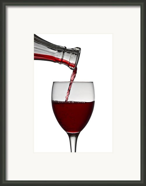 Red Wine Framed Print By Gert Lavsen