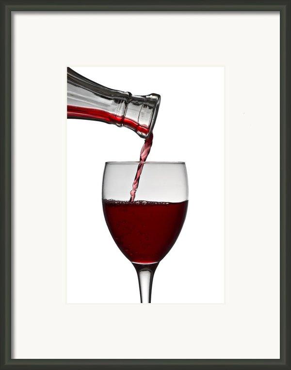 Red Wine Framed Print By Gert Lavsen