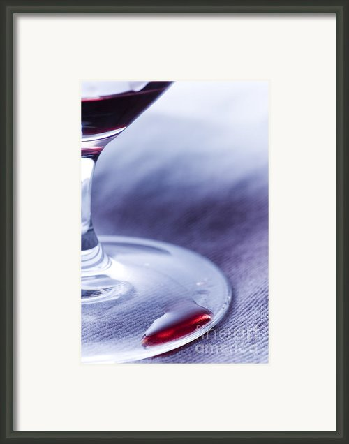 Red Wine Glass Framed Print By Frank Tschakert