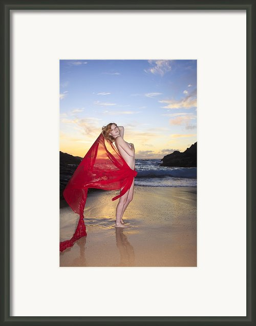 Redheaded Model At Eternity Beach Framed Print By Tomas Del Amo - Printscapes