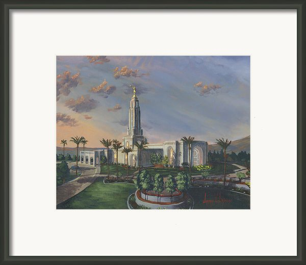 Redlands Temple Framed Print By Jeff Brimley