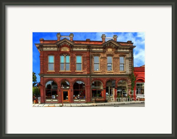 Redmens Hall - Jacksonville Oregon Framed Print By James Eddy