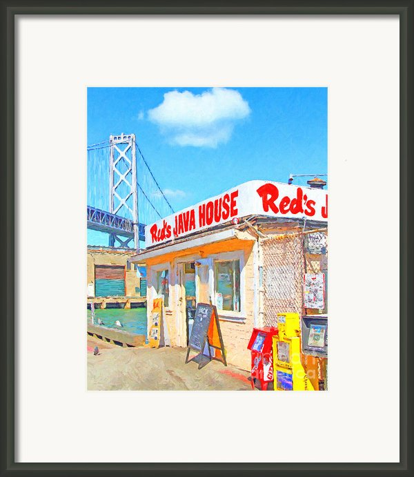 Reds Java House And The Bay Bridge At San Francisco Embarcadero Framed Print By Wingsdomain Art And Photography