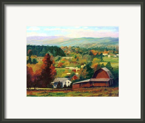 Reeds Farm Ithaca New York Framed Print By Ethel Vrana