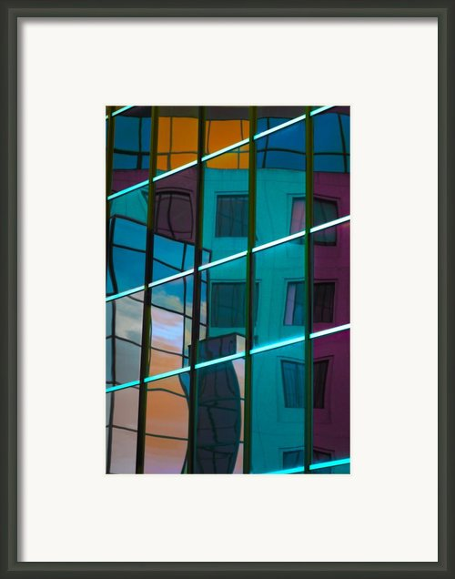 Reflections In Colour Framed Print By Elisabeth Van Eyken