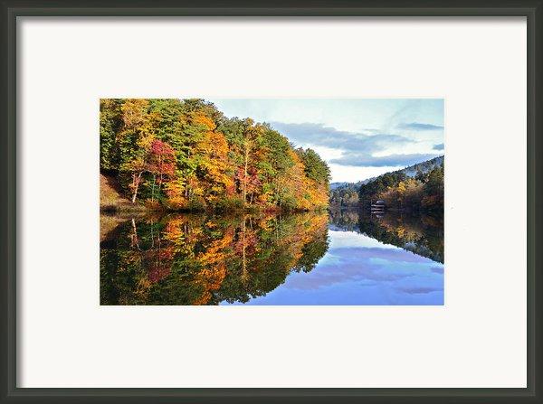 Reflections Of Autumn Framed Print By Susan Leggett