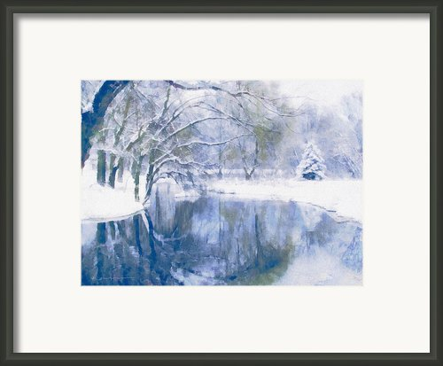 Reflections Of Winter Framed Print By Zeana Romanovna