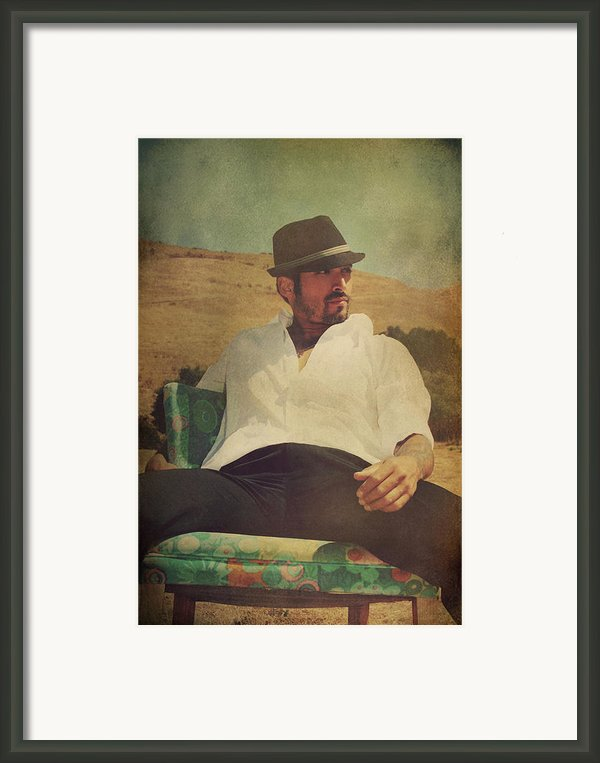 Relax And Stay A While Framed Print By Laurie Search