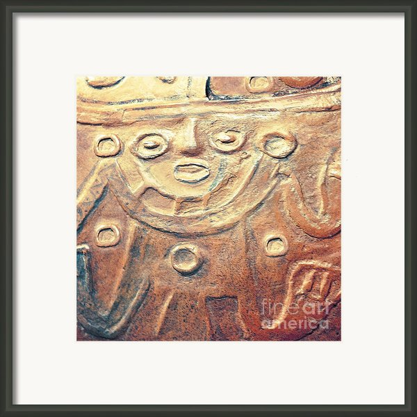 Relief Art In Earthtones Framed Print By Artist And Photographer Laura Wrede
