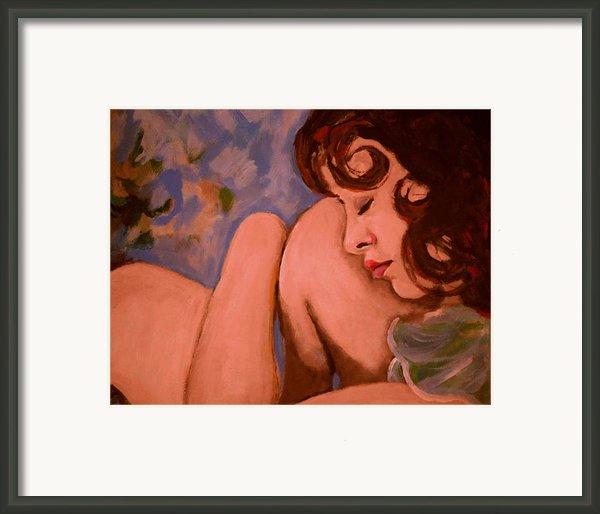 Resting Girl Framed Print By Adam Kissel