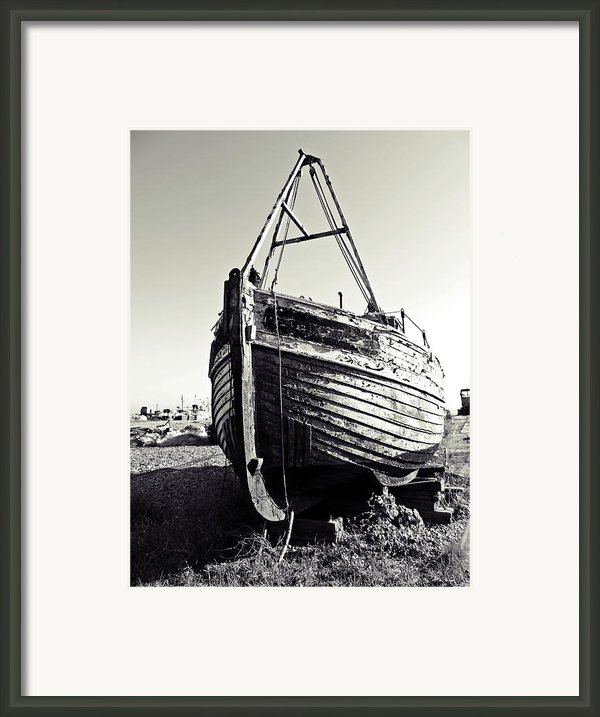 Retired Fishing Boat Framed Print By Sharon Lisa Clarke