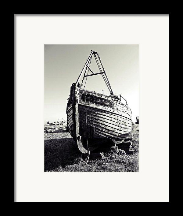 Retired Fishing Boat Framed Print By Sharon Lisa Clarke