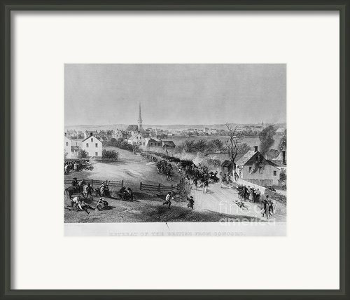 Retreat Of British From Concord Framed Print By Photo Researchers