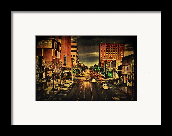 Retro College Avenue Framed Print By Joel Witmeyer