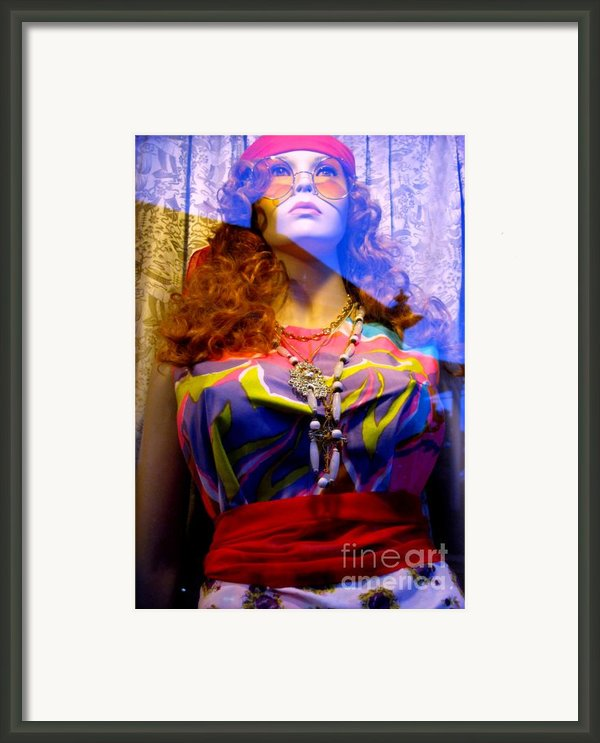 Retro Fashion Framed Print By Colleen Kammerer