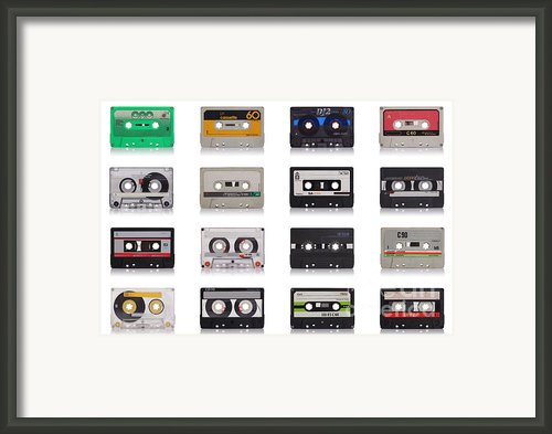 Retro Music Cassette Framed Print By Gualtiero Boffi