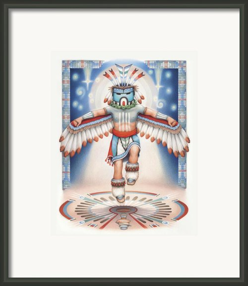 Return Of The Blue Star Kachina - Alignment 2012 Framed Print By Amy S Turner
