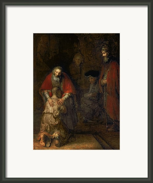 Return Of The Prodigal Son Framed Print By Rembrandt Harmenszoon Van Rijn