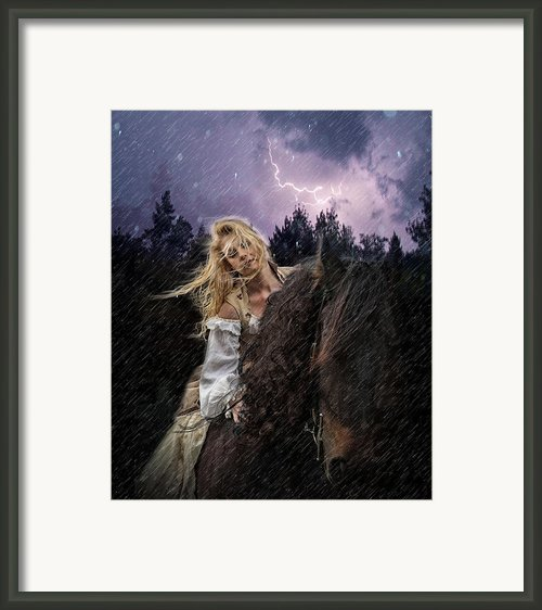 Return To Camelot Framed Print By Sally Carpenter