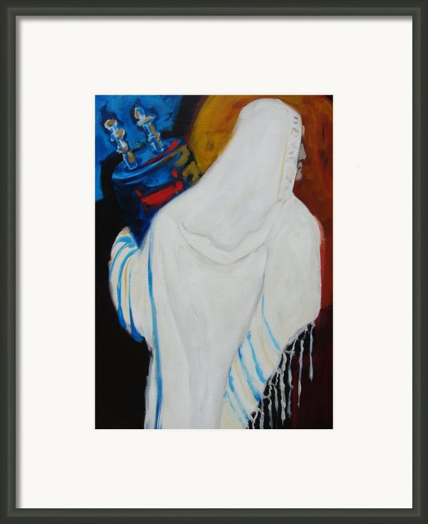 Returning The Torah Framed Print By Renee Kahn