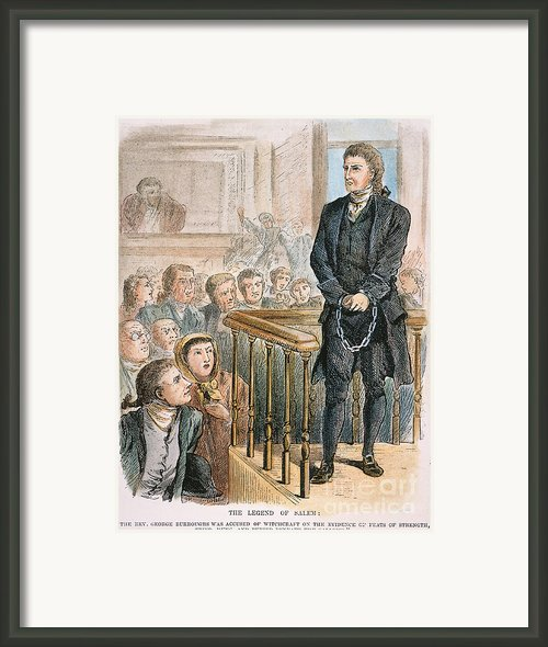 Rev. George Burroughs Framed Print By Granger