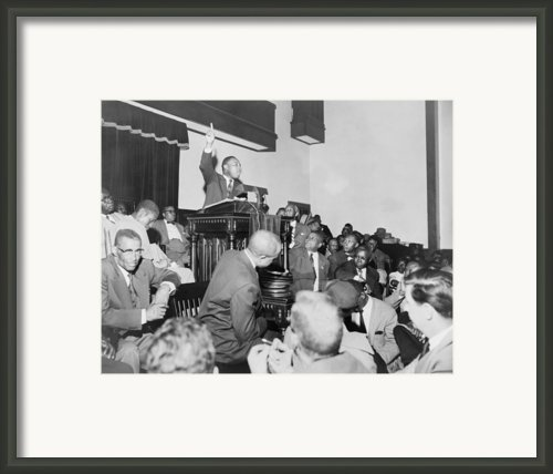 Rev. Martin Luther King, Jr., Speaking Framed Print By Everett