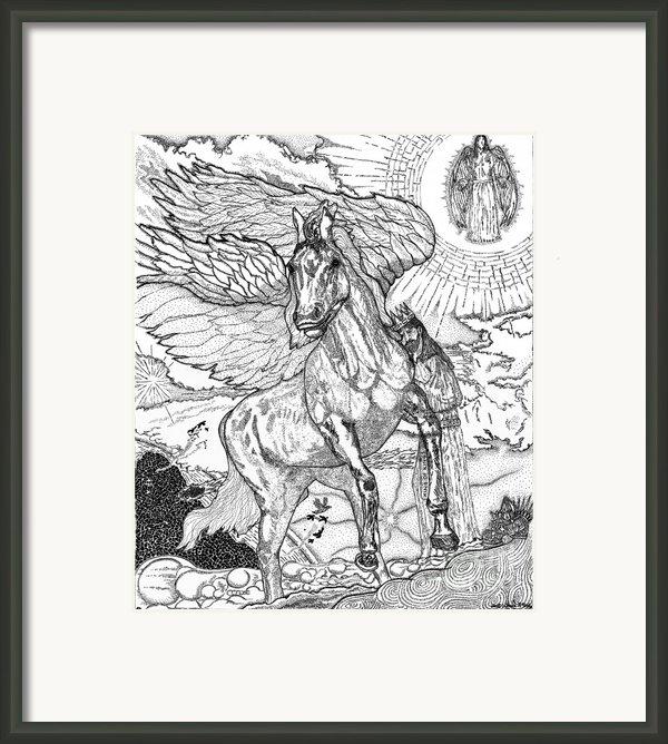Revelation   Return Of The King Framed Print By Glenn Mccarthy Art And Photography