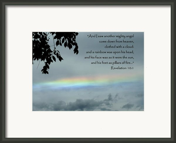 Revelation 10 Rainbow Framed Print By Cindy Wright