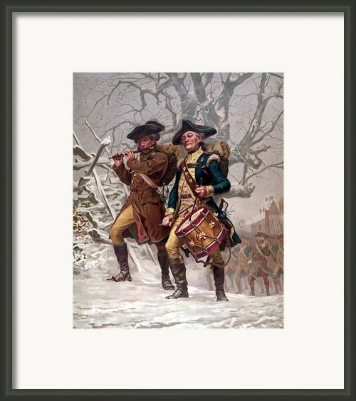 Revolutionary War Soldiers Marching Framed Print By War Is Hell Store