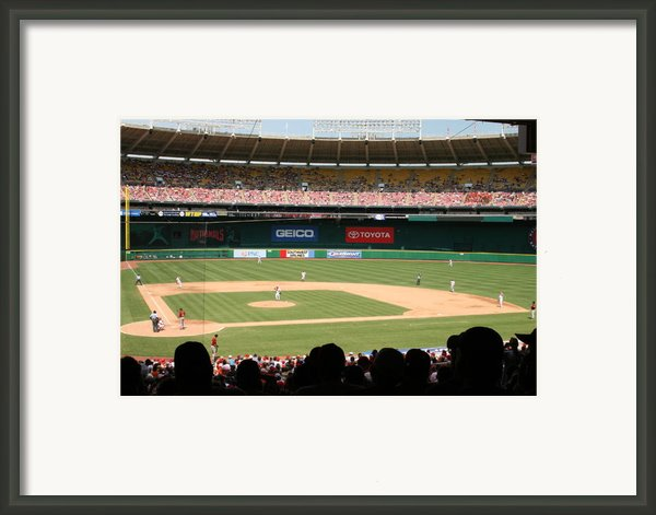 Rfk Stadium Framed Print By Lance Freeman