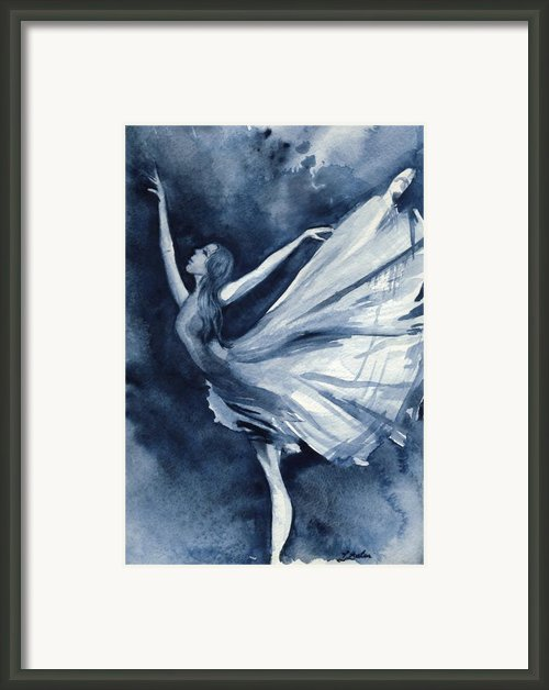 Rhapsody In Blue Framed Print By L Lauter