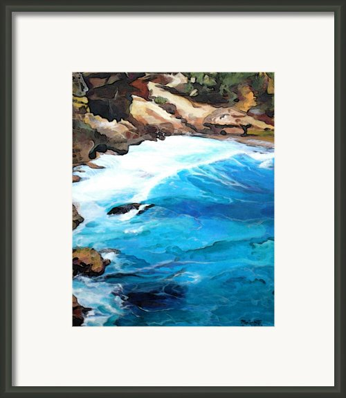 Rhythm Of The Ocean Framed Print By Marionette Taboniar