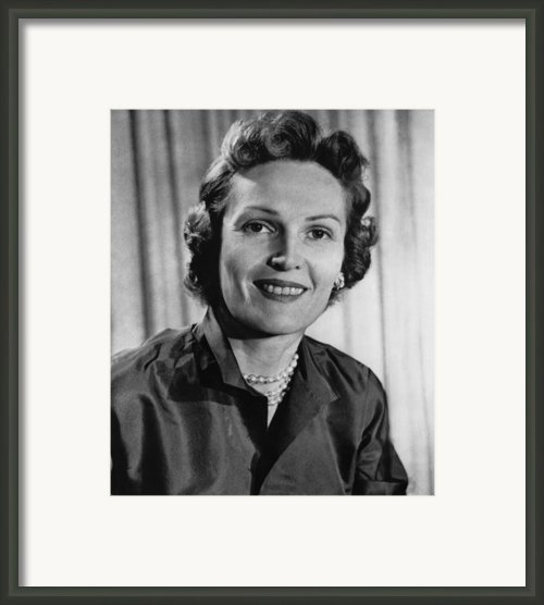 Richard Nixon.  Future First Lady Framed Print By Everett