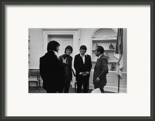 Richard Nixon Meeting Elvis Presley Framed Print By Everett