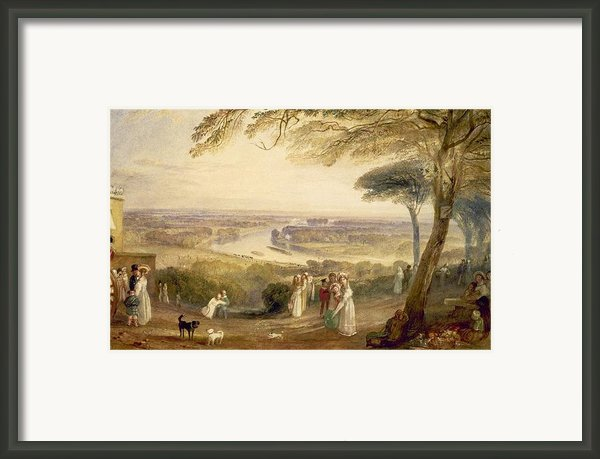 Richmond Terrace Framed Print By Joseph Mallord William Turner