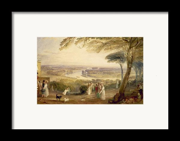 Richmond Terrace Framed Print By Joseph Mallord William Turner