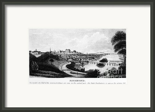 Richmond, Virginia, 1856 Framed Print By Granger