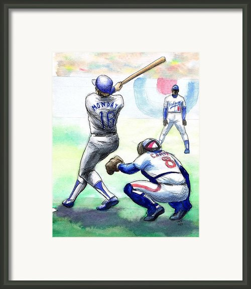 Rick Monday Framed Print By Mel Thompson