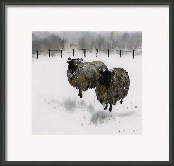 Ricks Farm Framed Print By Carolyn Doe