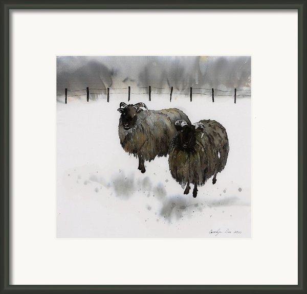Ricks Farm Framed Print By Carolyn Doe