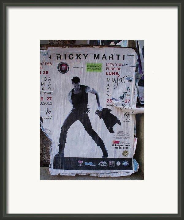 Ricky Martin In Concert Framed Print By Anna Villarreal Garbis