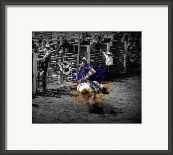 Ride The Thunder Framed Print By Amanda Eberly-kudamik