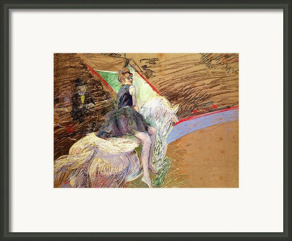 Rider On A White Horse Framed Print By Henri De Toulouse Lautrec